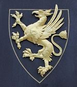Griffin as a symbol for a coat of arms