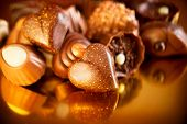 stock photo of truffle  - Valentine Chocolates - JPG