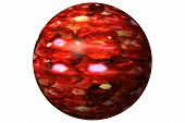 Ruby Red Glass Orb