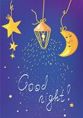 Good night banner and card