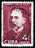 Postage Stamp Cuba 1955 General Emilio Nunez
