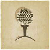 sport golf logo old background