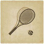 sport tennis logo old background