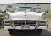 1956 Ford Fairlane Crown Victoria Green White Front View