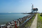 The Road To Lighthouse, Marken, The Netherlands