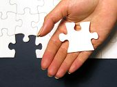 stock photo of solution problem  - solving the puzzle - JPG