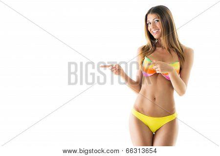 Attractive Girl In A Bikini poster