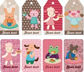 Cartoon Animal Tea Time Card