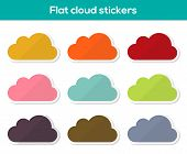 Flat Cloud Stickers
