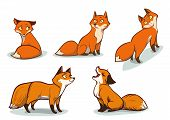 Funny Cartoon Foxes