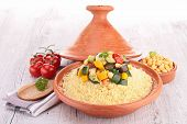 tajine with couscous