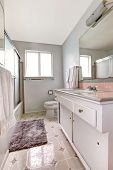 Simple Bathroom Interior In White Colors