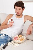 Lazy Man With Unhealthy Treats