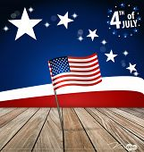 4th of July, Happy independence day United States of America. Vector illustration.