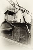 stock photo of auschwitz  - photo germany concentration and extermination camps auschwitz - JPG