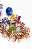 Beautiful Christmas Shoes Ornaments And Colorful Borders