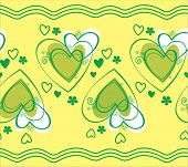 Seamless pattern vector with heart