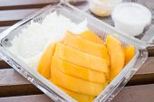 Tropical Dessert Box Of Sweet Mango And Sticky Rice