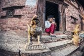 Old Man In Bhaktapur