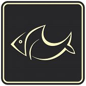 Fish - vector icon, sign