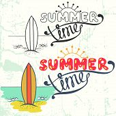 Summer time lettering