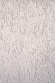 White Rough Plaster On Wall Closeup