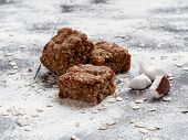 Homemade oatmeal cookies with coconut