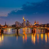 picture of frankfurt am main  - Frankfurt am Main at night - JPG
