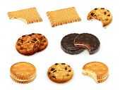 Cookies vector set
