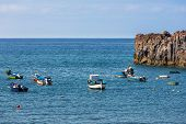 Fishing Ships Near Camara Do Lobos At Madeira Island