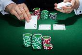 Croupier Arranging Cards