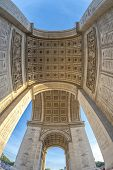 picture of charles de gaulle  - Underneath the Arc de Triomphe in Paris France - JPG