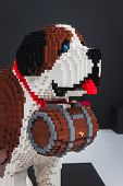 Lego Dog On Display At Quattrozampeinfiera In Milan, Italy