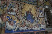 Mural painting in the church in Rila monastery