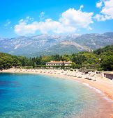 Luxury Beach and Hotel in Montenegro at Adriatic Sea