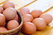 Chicken Eggs Of Brown Color
