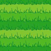 Seamless Vegetation Background. Green Grass. Vector