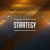 Strategy Concept. Retro Label Design.