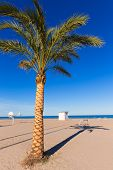 Gandia beach playa nord in Valencia at Mediterranean Spain