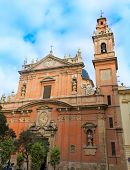 stock photo of tomas  - Valencia Santo Tomas church in plaza san Vicente Ferrer at Spain - JPG