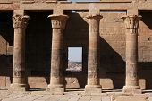picture of ptolemaic  - West Colonnade of the Temple of Isis on the Philae Island near Aswan - JPG
