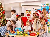 picture of card-making  - Children making greeting card - JPG