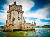 pic of world-famous  - Bel�m tower on Tagus river Bel�m Lisbon Portugal. UNESCO World Heritage Site.