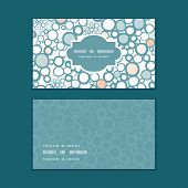 Vector colorful bubbles horizontal frame pattern business cards set