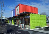 Restart Container Shops Relocated To The Western End Of Cashel Street Mall.