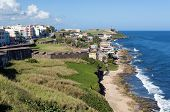 foto of san juan puerto rico  - View of San Felipe del Morro Castle and Old San Juan in Puerto Rico - JPG