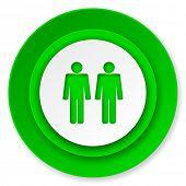 couple icon, people sign, team symbol