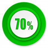 70 percent icon, sale sign