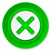 cancel icon, x sign