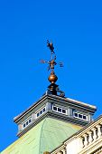 picture of wane  - Wind wane on top of the building - JPG